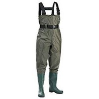 FISHINGSIR Waterproof Insulated Breathable Nylon and PVC Cleated Wading Boots