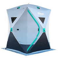 Elkton Outdoors Portable 3-4 Person Ice Fishing Tent