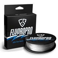 FISHINGSIR FluoroPro 100% Pure Fluorocarbon Coated Fishing Line