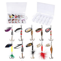 PLUSINNO Fishing Lures for Bass 16pcs Spinner Lures