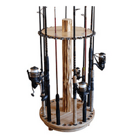 Rush Creek Creations Round Spinning 30 Fishing Rod Rack