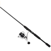 Cadence CC4 Spinning Combo Lightweight with 24-Ton 2-Piece Graphite Rod Strong Carbon Composite Frame & Side Plates