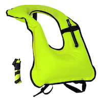 Lesberg Inflatable Snorkel Vest Adult Snorkeling Jackets Free Diving Swimming Safety Load Up to 220 Ibs