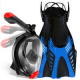 Cozia Design Snorkel Set with Foldable Snorkel MASK Swim FINS