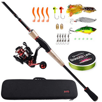 Sougayilang Unicorn Baitcasting Travel Fishing Rod Reel Combos