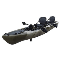 BKC PK14 14' Tandem Sit On Top Pedal Drive Kayak