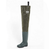 Duck and Fish Green Fishing Wader Hip Boots