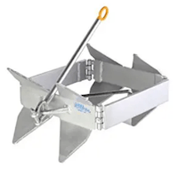 Slide Anchor - Box Anchor for Offshore Boat Anchoring - Includes Storage Bag (Bag Colors May Vary)