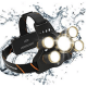 MsForce Rechargeable Headlamp. 5 Ultra Bright LED Head Lamp