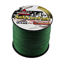 Ashconfish Braided Fishing Line-8 Strands Super Strong Fishing Wire 300M:328Yards-Abrasion Resistant Braided Lines-Incredible Superline-Zero Stretch-Superfine Diameter