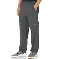 Columbia Men's Backcast Convertible Sun Pants, Quick Drying