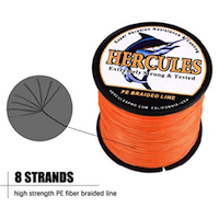 HERCULES SUPER CAST 8 STRANDS BRAIDED LINE