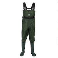 TIDEWE Bootfoot Chest Wader, 2-Ply Nylon:PVC Waterproof Fishing & Hunting Waders for Men and Women