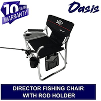 Tuscany Pro Backpack Fishing Chair With Rod And Cup Holder